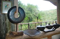 Unique African artifacts are used in Bush Lodge at Sibuya Game Reserve, Kenton on Sea, Eastern Cape, South Africa www.sibuya.co.za Game Reserve, South Africa, Cape, African, Sea, Unique, Mantle, Cabo, Cloak
