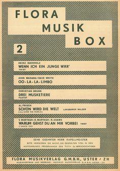 FLORA MUSIK BOX NR.02 - DREI MUSKETIERE - OO-LA-LA-LIMBO - SCHÖN WIRD DIE WELT