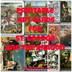 Art Cards for St. George and the Dragon (Teach Beside Me)  #artcards #st.george #dragon #fairytale