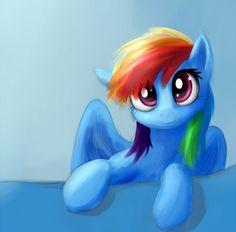 My little pony: friendship is magic..... Drawing of rainbow dash