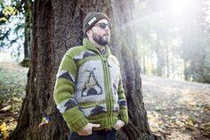 This time in a sweater! Our favourite collaboration with Poler Stuff. Go get some camp vibes! Closer To Nature, Men Looks, Collaboration, Custom Design, Men Sweater, Guys, Sweaters, Collection, Dresses