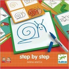 Djeco Dieren leren tekenen 3j