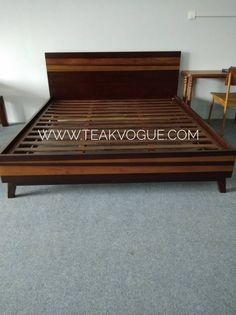 TEAK QUEEN SIZE BED FRAME [SL3]  Made from 100% Recycled Teak Wood  https://www.teakvogue.com/product-…/furniture-sale-malaysia/