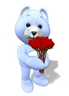 The perfect Flowers Cute Bear Animated GIF for your conversation. Discover and Share the best GIFs on Tenor. Roses Gif, Flowers Gif, Animiertes Gif, Animated Gif, Gif Bonito, Gif Lindos, Gifs, Diabetic Dog, Good Night Image