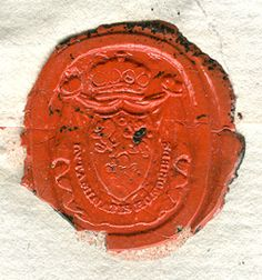 Red Wax Signet Seal. This seal is the seal of Lord St. Helens.