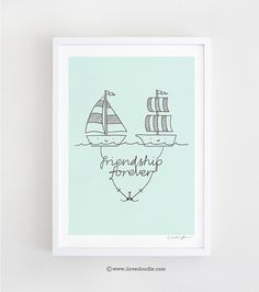 Friendship forever art print of illustration by Lim Heng Swee Print measures about x including a white border *Frame is not Paradise Quotes, Temp Tattoo, Temporary Tattoo, Kids Artwork, Fantasy Women, Projects For Kids, Cute Pictures, Friendship, Doodles