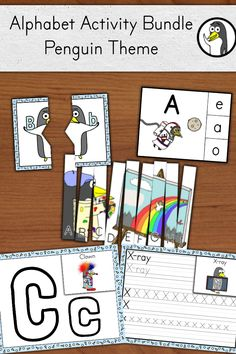 Morning work, fast finishers, literacy centers, and more - these penguins will encourage conversation while your students practice their ABCs #kindergarten #FIRSTGRADE #literacycenters #alphabet #penguins
