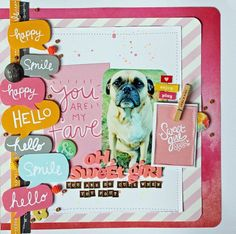 Oh Sweet Girl scrapbook layout by Melissa Mann for American Crafts
