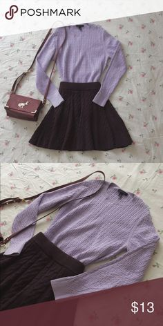 Lilac cable sweater Lilac cable sweater. Very soft baby lilac lavender purple color. Love the color. Great condition. No bobbles no pulling. NOT URBAN OUTFITTERS. Listed it as one for exposure. Pet/smoke free. No trade. Urban Outfitters Sweaters Crew & Scoop Necks
