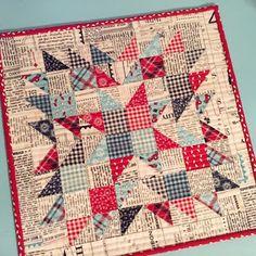 A Quilting Life - a quilt blog: Summer Star Mini Quilts