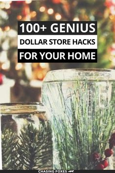 Dollar store hacks that are perfect for DIY projects. These dollar store crafts will really help you organize, clean and decorate your home! #ChasingFoxes #DollarStoreHacks