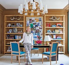 Home Offices — Designer Tory Burch's office.  She is not a...