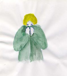 Green Peace #illustration #watercolour #blondie #parka  http://dettapini.blogspot.it/2012/07/love-you-but-youre-green.html