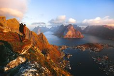 Sunrise on the top of Mt. Reinebringen, Lofoten by Konsta Linkola