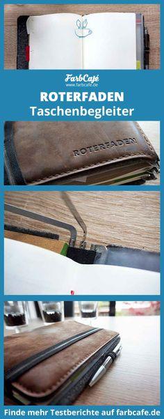 Der Taschenbegleiter von Roterfaden ist das Ideale Buch für all Bujo, Roterfaden, Organization Bullet Journal, Leather Journal, Moleskine, Journal Inspiration, Leather Craft, Planer, Zip Around Wallet