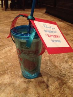 Teacher/coworker gift Tumbler with a packet of AdvoCare SPARK! www.advocare.com/130727617