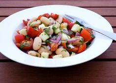 Tomato salad with beans and dill...