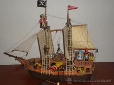 1000 images about playmobil vintage on pinterest for Barco pirata playmobil