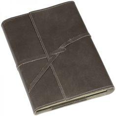 Notizbuch Romano Leder dunkelgrau