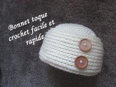 Bonnet au crochet très épais et moelleux facile et très rapide à réaliser explications pour toutes les tailles