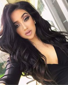 194 hottest dark brown hair colors to inspire you – page 1 Black Curly Hair, Big Hair, Big Curls For Long Hair, Black Curls, Long Black Hair, Big Black, Pretty Hairstyles, Wedding Hairstyles, Thin Hairstyles