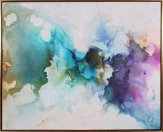 Genesis I Dynamic Watercolor, 61w x 48h