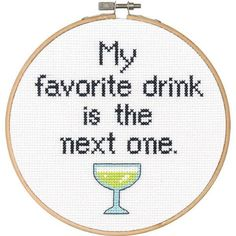 Dimensions® Favorite Drink Counted Cross-Stitch Kit - Herrschners #subversive #cocktails