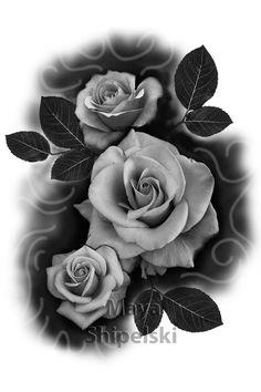J Tattoo, Tattoo Cover Up, Body Art Tattoos, Clock Tattoo Design, Music Tattoo Designs, Floral Tattoo Design, Flower Tattoo Designs, Rose Drawing Tattoo, Realistic Rose Tattoo