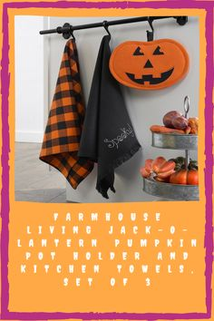 You can also add ornamental and purposeful Halloween décor. This 3-piece set includes 2 kitchen towels and a pumpkin pot holder. Hang these as a decoration or you can also use it in the kitchen. You can grab these at 50% off until October 4. These are available online on Macy's. Halloween Kitchen, Spooky Halloween Decorations, October 4, A Pumpkin, Kitchen Towels, 3 Piece, Pot Holders, Ornaments, Hot Pads