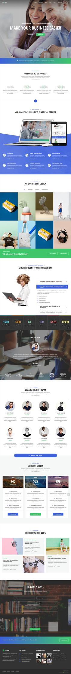 Visionary : Creative Agency Multipurpose WordPress Theme   Wordpress Themes   Design Blog