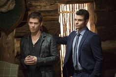 """The Originals -- """"Brotherhood of the Damned"""" -- Image Number: -- Pictured (L-R): Joseph Morgan as Klaus and Daniel Gillies as Elijah -- Photo: Bob Mahoney/The CW -- The CW Network, LLC. All rights reserved. Daniel Gillies, Joseph Morgan, The Originals Tv Show, Charles Michael Davis, Danielle Campbell, Vampire Diaries Quotes, Vampire Diaries The Originals, Phoebe Tonkin, Movies"""