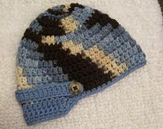 brimmed crochet newborn hat free pattern