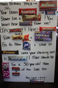 Birthday candy, Birthday candy bar and Candy bar poems on ...