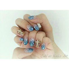 Winter Sparkly SnowFlake gelnail design for lovely @yuthgan ps:s share with all of u a closer look have a good day guys... #winternail #snowflake #christmasnail #blingblingnail #frozen #gelnail #nails2inspire #nailswag #nailartdesign #nailstagram #nailsbyhelencawaii #nailfashion #nailart #nailclub