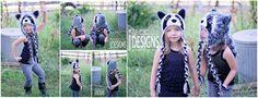 Handmade Crochet Raccoon Animal Hat for boys and girls of all ages www.irarott.com