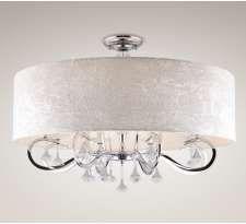 Plafon LAMPA sufitowa AMSTERDAM C C0060 Maxlight abażurowa OPRAWA z kryształkami crystal biała