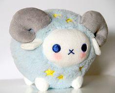 Soram Little star ram plush Kawaii stuffed plushies Cute Stuffed Animals, Cute Animals, Softies, Plushies, Japan Kawaii, Mario And Luigi, Cute Plush, Cute Toys, Kawaii Cute