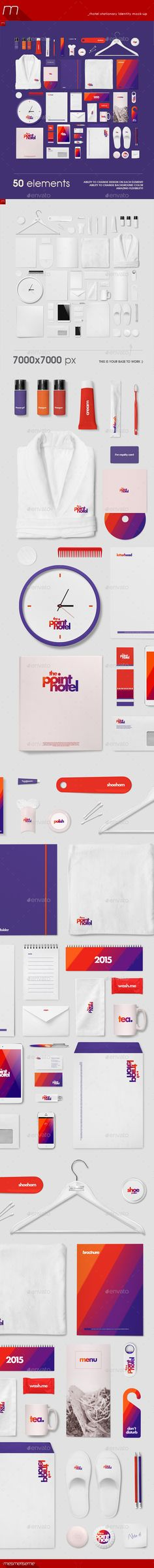 Hotel Identity Stationery Mock-up | #hotelidentitymockup #hotelstationerymockup | Download: http://graphicriver.net/item/hotel-identity-stationery-mockup/8886251?ref=ksioks