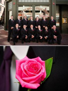 Pink Rose Boutonnieres for the Guys!  This is what were doing!  Oh yea, my boys are going to be SO PINK!