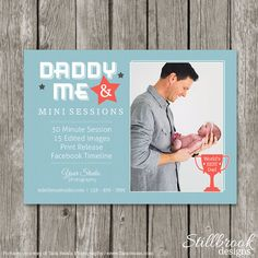Daddy & Me Mini Session Template - Father's Day Marketing Board - Dad and Me Photography Flyer