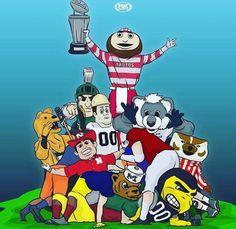 Big ten football of course brutus buckeye win big shot win big ten Buckeyes Football, Ohio State Football, Ohio State University, Ohio State Buckeyes, Big Ten Football, Football Baby, Ohio State Baby, Cool Cartoons, Cartoon Art
