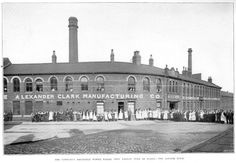 Portland Works in 1908, a former cutlery factory and where the first stainless steel cutlery was made.
