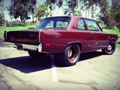 1969 Plymouth Valiant. Toms old car, but it was lowered, yeah boy he was and is a bad ass mother trucker!