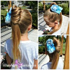 Fun little ponytail inspired by Irar Olivo de Almeida from youtube.