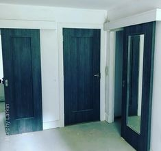 Our new Midnight Grey doors come in three different finishes with clear glass, frosted and a solid panel shaker door. Available from our Showrooms in Tramore and Clonmel and online. Shaker Doors, Grey Doors, Clear Glass, It Is Finished