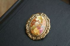Vintage Brooch With Minstrel Scene Beautiful One of by tesorilove, $15.00