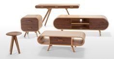 MADE.COM - Dec 3rd - 'FONTEYN' New Additions - in oak and walnut.    Cute and compact, these new members of the Fonteyn range will perfectly round off a retro living room look!    Which is your pick of the Fonteyn Collection?