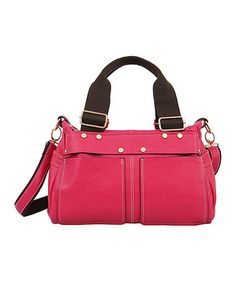 This Fuchsia Twins Satchel by Mellow World is perfect! #zulilyfinds
