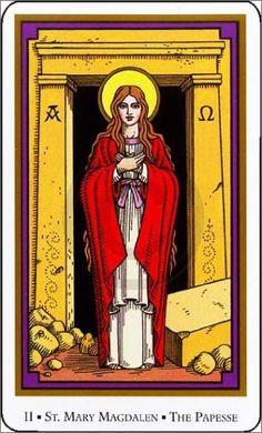 Tarot of the Saints -- High Priestess
