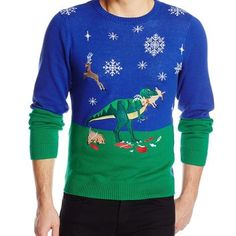 dinosaur christmas sweater made from a sweatshirt - Google Search